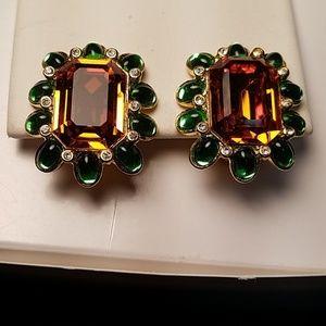 KJL Kenneth J Lane Tozaz & Green Earrings